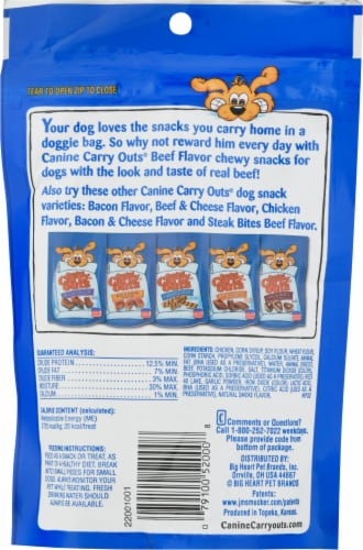 Canine Carry Outs® Beef Flavor Dog Snacks Perspective: back