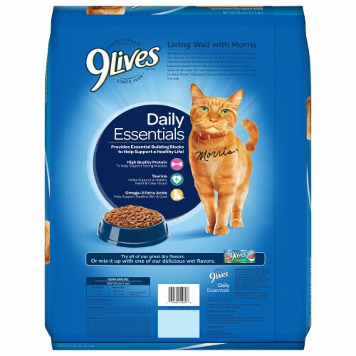 9Lives Daily Essentials Dry Cat Food Perspective: back