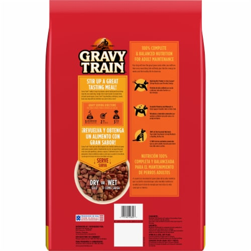 Gravy Train Beefy Classic Dry Dog Food Perspective: back