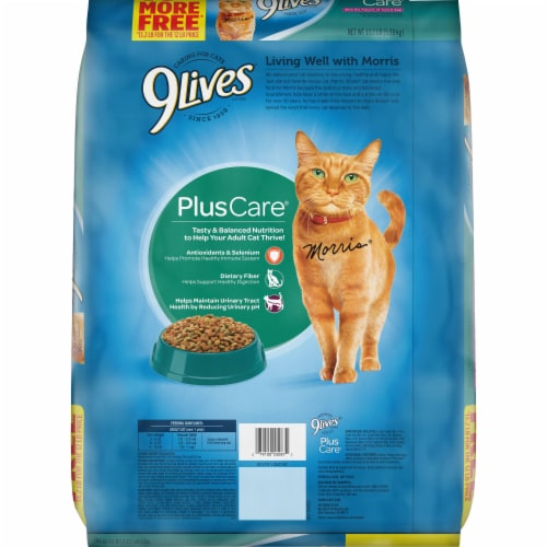 9Lives Dry Tuna & Egg Cat Food Perspective: back