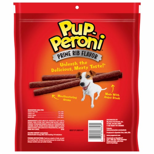 Pup-Peroni® Prime Rib Dog Treats Perspective: back