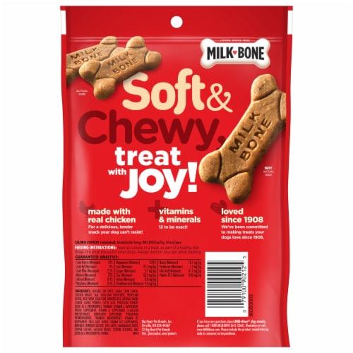 Milk-Bone® Soft & Chewy Chicken Recipe Dog Snacks Perspective: back