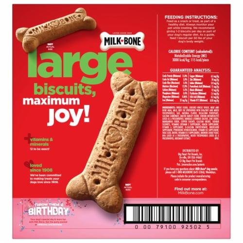 Milk-Bone Large Dog Biscuits Perspective: back