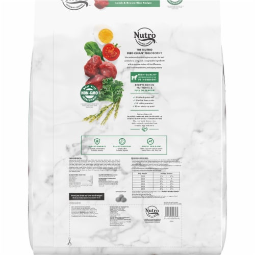 Nutro™ Natural Choice Lamb & Brown Rice Recipe Adult Dry Dog Food Perspective: back
