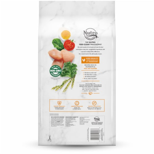 Nutro Natural Choice Chicken & Brown Rice Recipe Adult Dry Dog Food Perspective: back