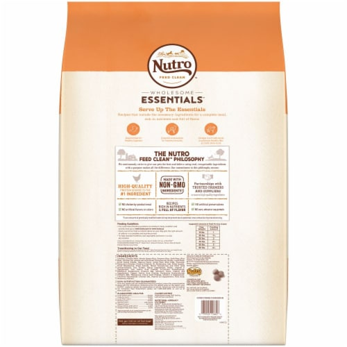 Nutro Natural Choice Chicken Brown Rice Recipe Adult Dry Dog Food Perspective: back
