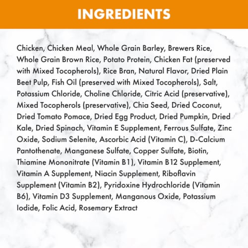 Nutro Natural Choice Chicken & Brown Rice Puppy Dry Dog Food Perspective: back