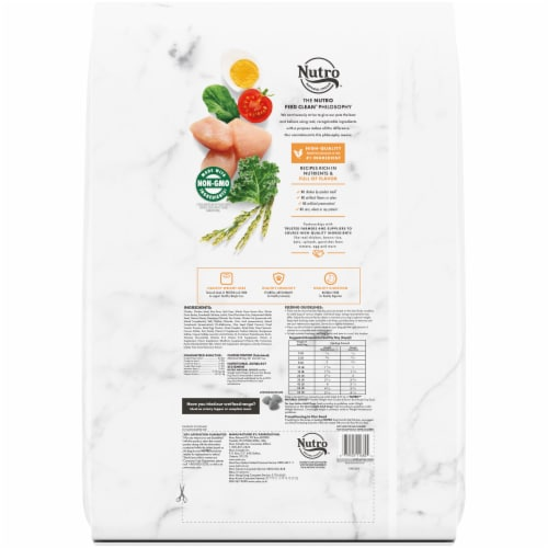Nutro Wholesome Essentials Healthy Weight Chicken Lentils & Sweet Potato Adult Dog Food Perspective: back