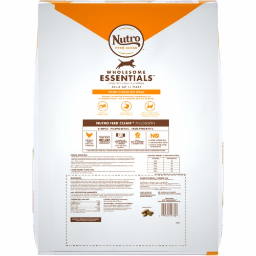 Nutro Wholesome Essentials Indoor Cat Salmon & Brown Rice Recipe Adult Dry Cat Food Perspective: back
