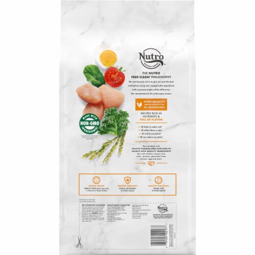 Nutro Wholesome Essentials Chicken Brown Rice & Sweet Potato Recipe Small Breed Dry Adult Dog Food Perspective: back