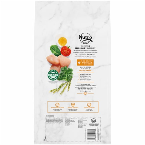 Nutro Wholesome Essentials Chicken Brown Rice & Sweet Potato Recipe Small Breed Senior Dry Dog Food Perspective: back