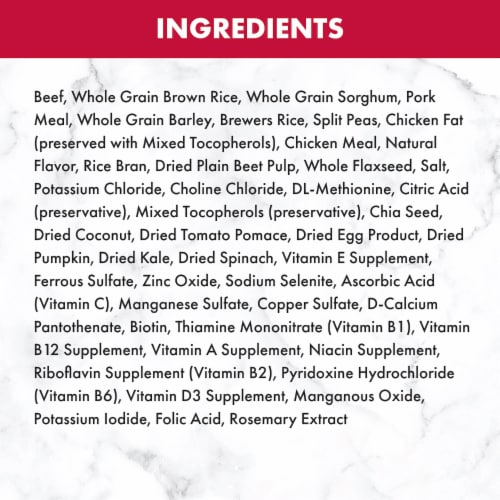 Nutro Feed Clean Wholesome Essentials Beef & Brown Rice Recipe Adult Dog Food Perspective: back