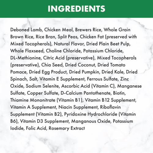 Nutro Wholesome Essentials Small Bites Lamb & Rice Recipe Adult Dry Dog Food Perspective: back