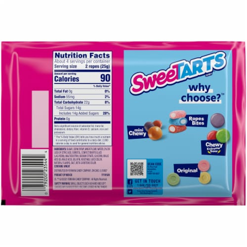 SweeTARTS Cherry Punch Soft & Chewy Ropes Perspective: back