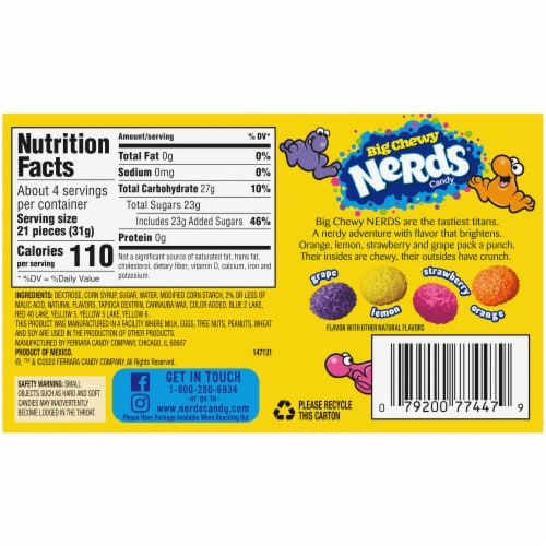 Nerds® Big Chewy Candy Perspective: back