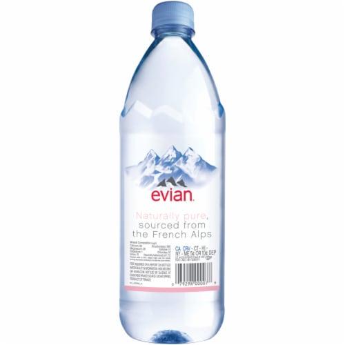 Evian Bottled Natural Spring Water Perspective: back