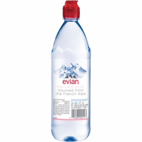 Evian Natural Spring Water Perspective: back