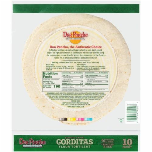 Don Pancho Gorditas Burrito Style Tortillas Perspective: back
