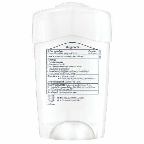 Dove Clinical Protection Original Clean Women's Antiperspirant Deodorant Stick Perspective: back