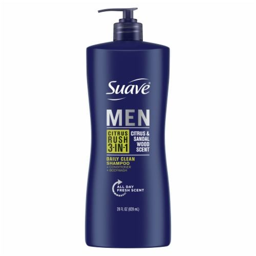 Suave Men 3-in-1 Citrus Rush Shampoo + Conditioner + Body Wash Perspective: back