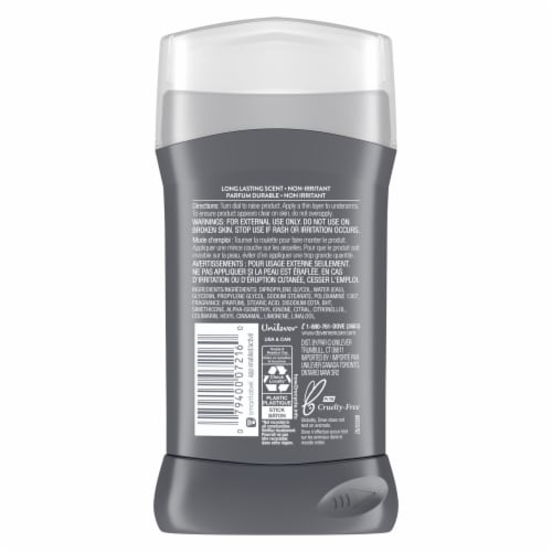 Dove Men+Care Clean Comfort Deodorant Stick Perspective: back