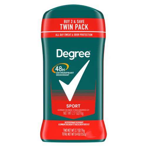 Degree Men Sport 48H Antiperspirant Deodorant Twin Pack Perspective: back