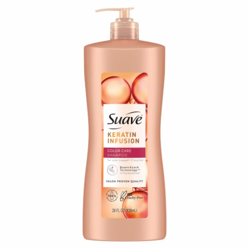 Suave Professionals Keratin Infusion Color Care Shampoo Perspective: back