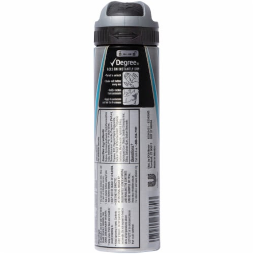 Degree Men 48-Hour Sweat & Odor Protection MotionSense Cool Rush Antiperspirant Deodorant Dry Spray Perspective: back
