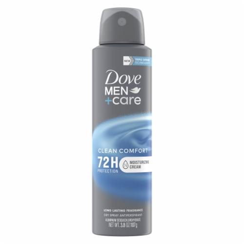 Dove Men+Care Clean Comfort Antiperspirant Deodorant Dry Spray Perspective: back
