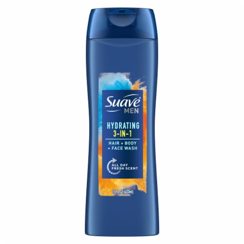 Suave Men 2-in-1 Hair & Body Wash Perspective: back