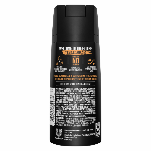 Axe Dark Temptation Deodorant Body Spray Perspective: back