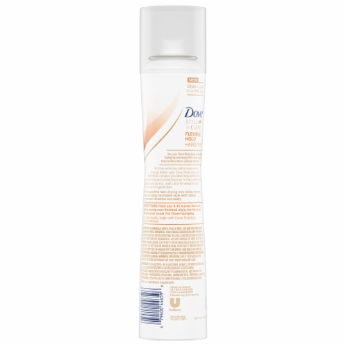 Dove Style + Care Flexible Hold Hairspray Perspective: back