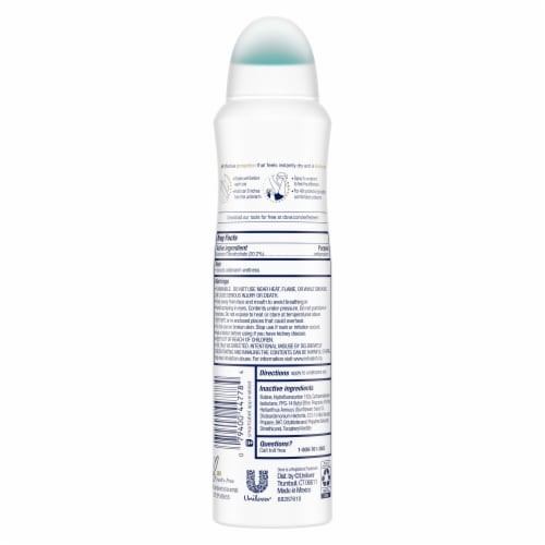 Dove Sheer Cool Invisible Antiperspirant Dry Spray Perspective: back