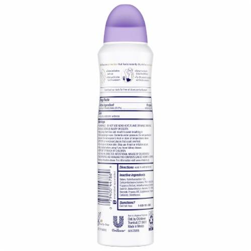 Dove Lavender Fresh Dry Spray Perspective: back