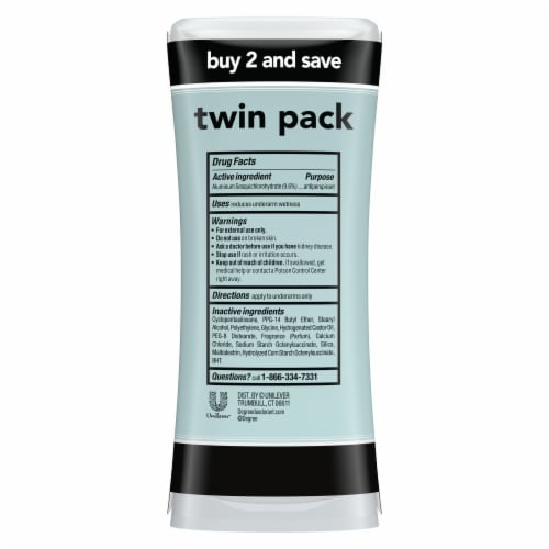 Degree Women UltraClear Black & White Antiperspirant Deodorant Twin Pack Perspective: back