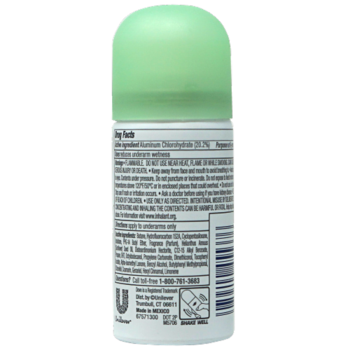 Dove Go Fresh Cool Essentials Antiperspirant Dry Spray Perspective: back