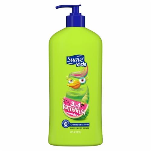 Suave® Kids Watermelon Wonder 3in1 Shampoo + Conditioner + Body Wash Perspective: back