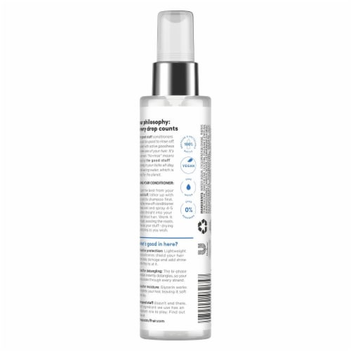 the good stuff Weightless Protection Mist No-Rinse Conditioner Perspective: back