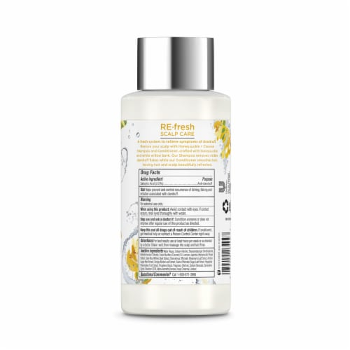 RE-fresh Scalp Care Honeysuckle + Cleanse Anti-Dandruff Conditioner Perspective: back