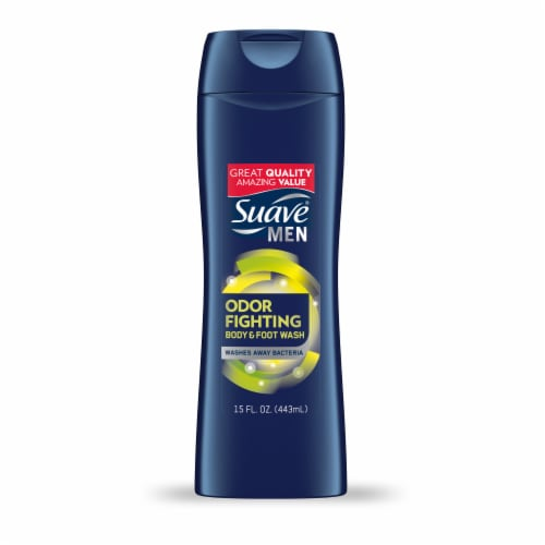 Suave Men Odor Fighting Body & Foot Wash Perspective: back