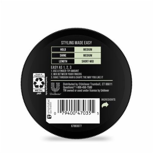 AXE Men Natural Look Medium Hold & Shine Texturizing Hair Styling Cream Perspective: back