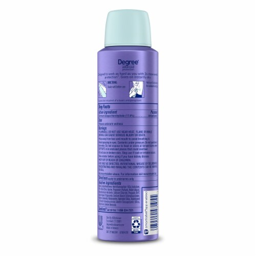 Degree Women's Passion Vanilla and Pear Antiperspirant and Deodorant Dry Spray Perspective: back