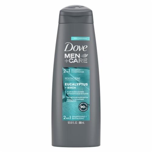 Dove Men+ Care Eucalyptus & Birch 2-in-1 Shampoo and Conditioner Perspective: back
