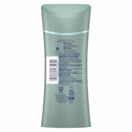 Degree Odor Protect Calming Lavender Aluminum-Free Deodorant Perspective: back