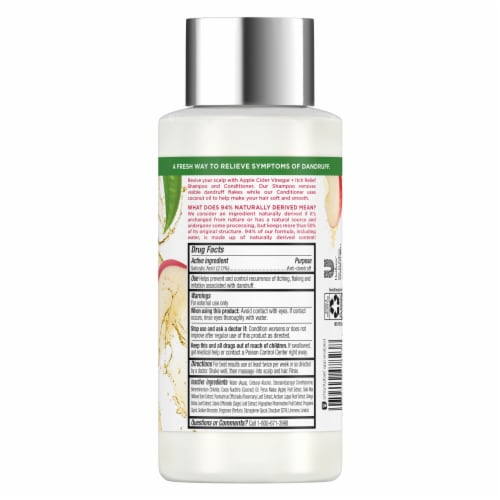 RE-fresh Silicone-Free Apple Cider Vinegar Anti-Dandruff Itchy Scalp Relief Conditioner Perspective: back