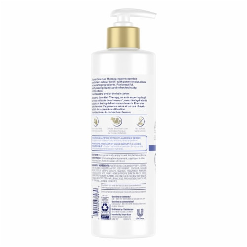 Dove Hair Therapy Hydration Spa Shampoo Perspective: back