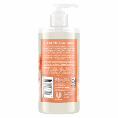 Suave Milk and Honey Hand Soap Perspective: back
