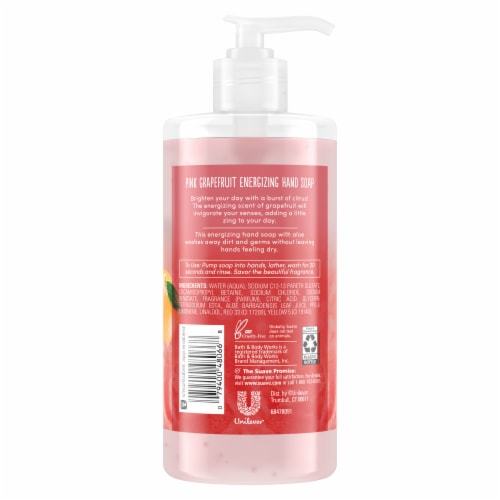 Suave Pink Grapefruit Energizing Hand Soap Perspective: back