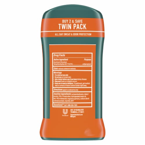 Degree Men Wild Woods Antiperspirant and Deodorant Stick Perspective: back