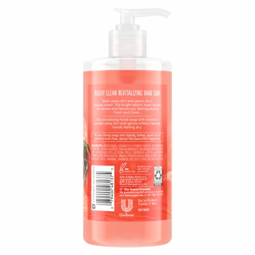 Suave Peachy Clean Revitalizing Hand Soap Perspective: back